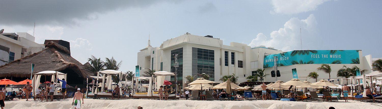 Beachfront club with cabanas