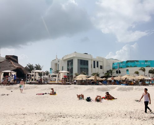 Beachfront club with cabanas